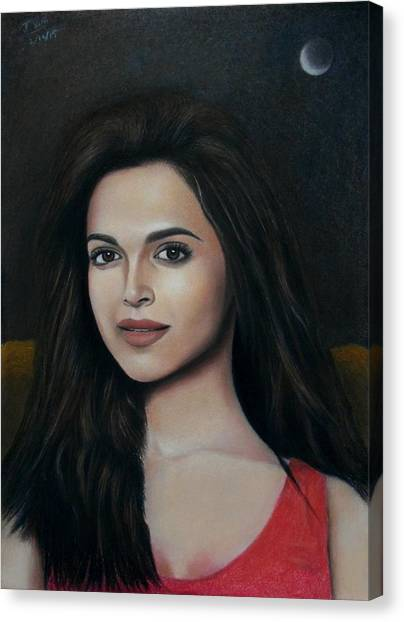 Deepika Padukone - The Enigmatic Expression Canvas Print