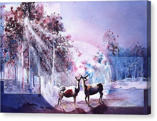 Deer Enchantment Canvas Print