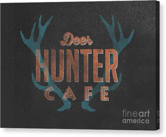 Rustic Canvas Print - Deer Hunter Cafe by Edward Fielding