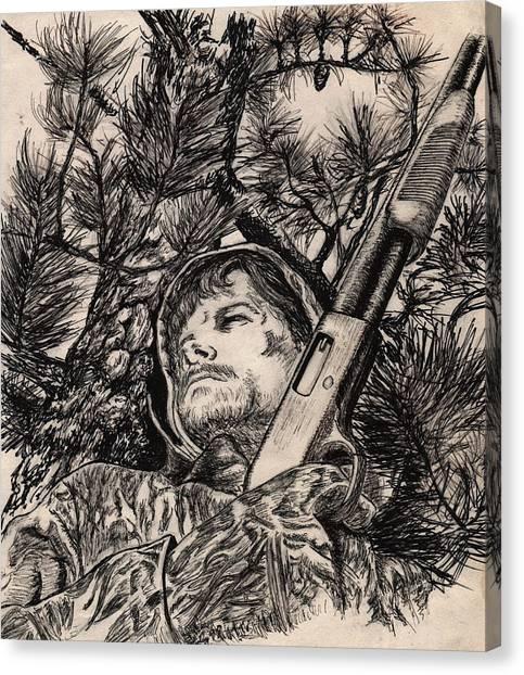 Deer Hunter Canvas Print
