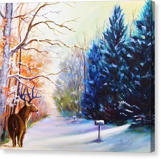 Deer Season Canvas Print by Anne Dentler