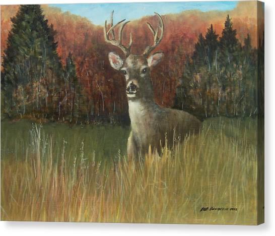 Deer Season Canvas Print by Robert Harrington