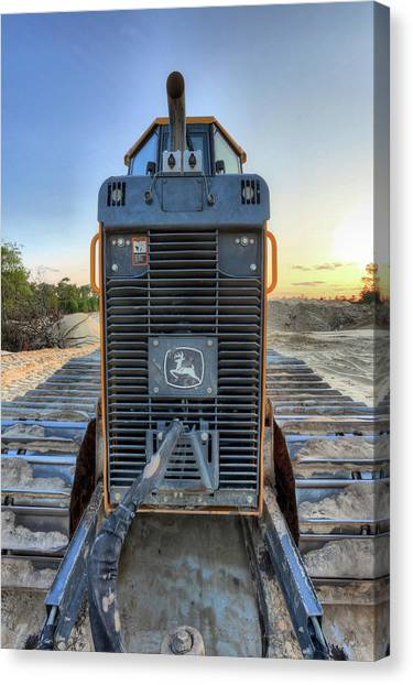 Deere Heavy Equipment  Canvas Print by JC Findley