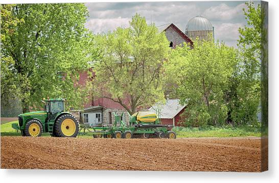 Deere On The Farm Canvas Print