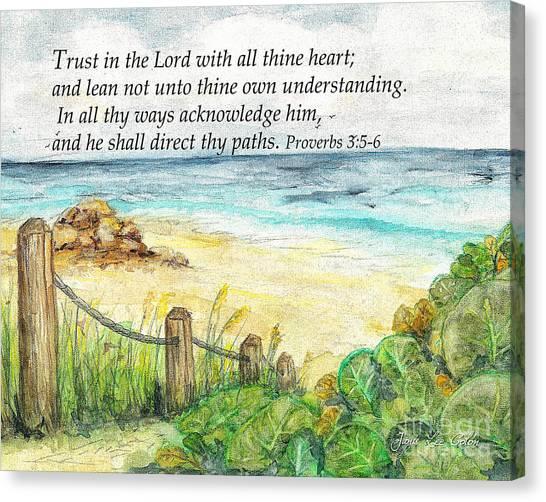 Deerfield Beach Sea Grapes Proverbs 3 Canvas Print