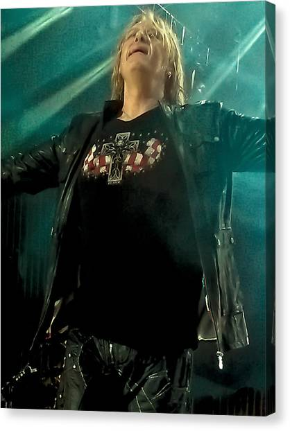 Def Leppard Canvas Print - Def Lappard's Joe Elliott by David Patterson