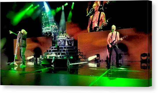 Def Leppard Canvas Print - Def Leppard On Stage by David Patterson