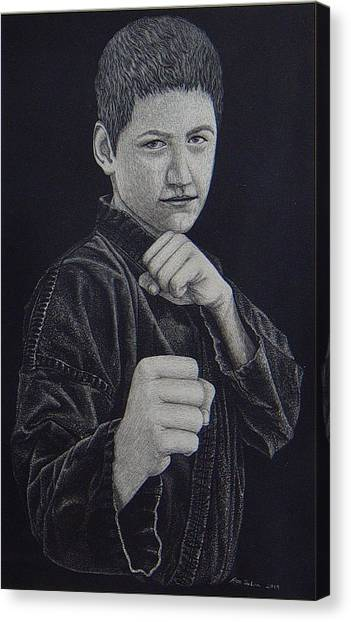 Jujitsu Canvas Print - Defend Yourself by Ron Sylvia