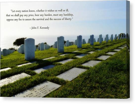 Fort Rosecrans National Cemetery Canvas Print - Defending Liberty by Glenn McCarthy Art and Photography