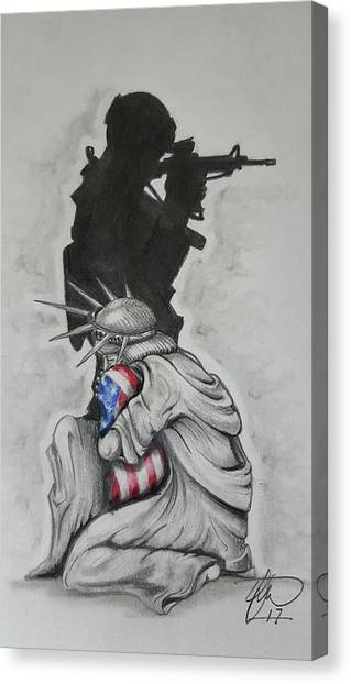 Soldier Canvas Print - Defending Liberty by Howard King