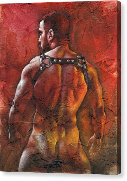 Male Nudes Canvas Print - Defiant by Chris Lopez