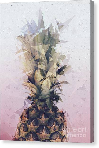 Defragmented Pineapple Canvas Print