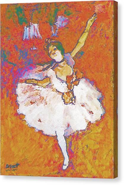 Degas Dancer Canvas Print by Robert Bissett