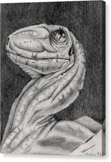 Deino Hatch Sketch Canvas Print