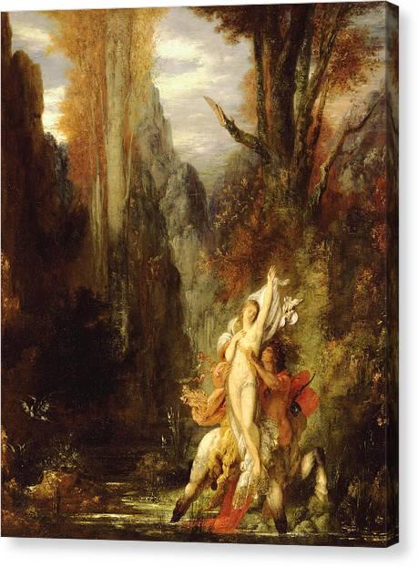 Centaurs Canvas Print - Dejanira  Autumn by Gustave Moreau