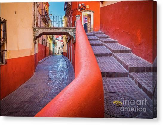 Guanajuato Canvas Print - Del Campanero by Inge Johnsson