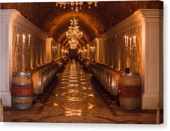 Del Dotto Wine Cellar Canvas Print