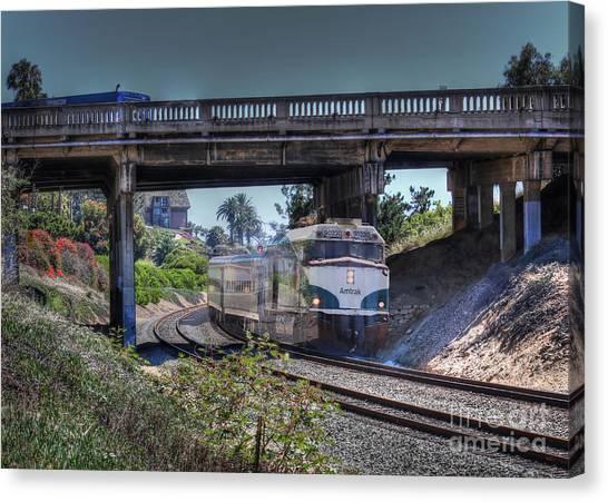 Del Mar Amtrak Canvas Print