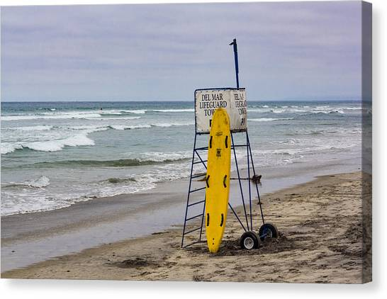 Del Mar Lifeguard Tower Canvas Print