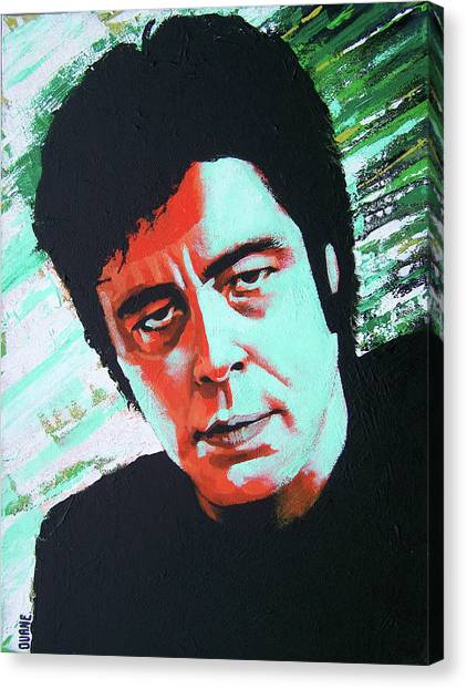 The Usual Suspects Canvas Print - Del Toro by Duane Potosky