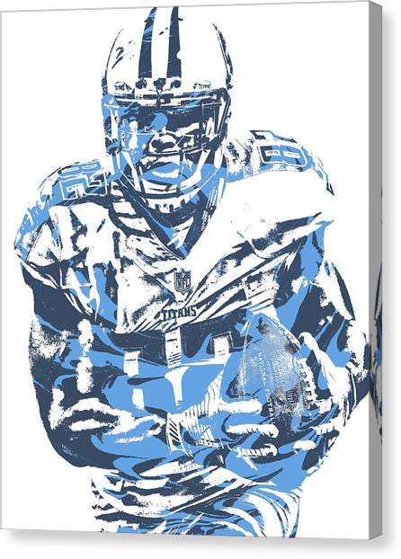 Tennessee Titans Canvas Print - Delanie Walker Tennessee Titans Pixel Art 10 by Joe Hamilton