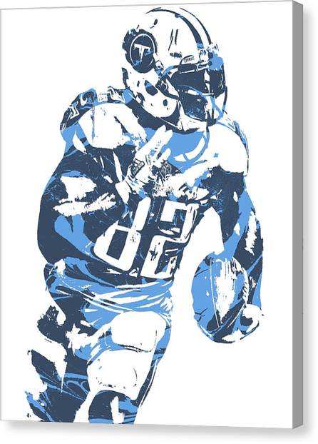 Tennessee Titans Canvas Print - Delanie Walker Tennessee Titans Pixel Art 11 by Joe Hamilton