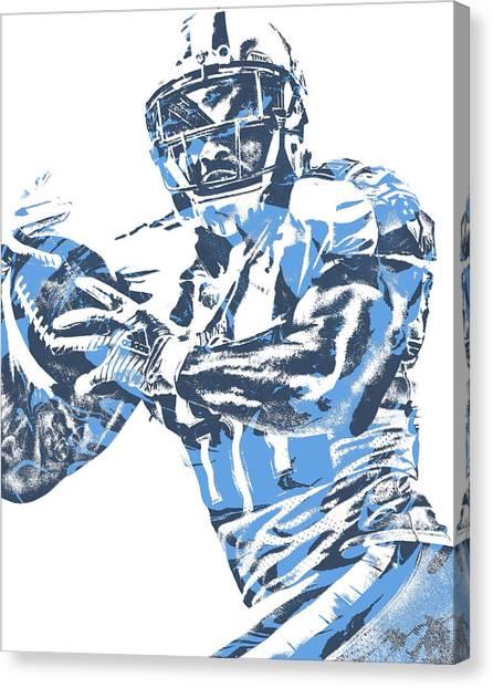 Tennessee Titans Canvas Print - Delanie Walker Tennessee Titans Pixel Art 14 by Joe Hamilton