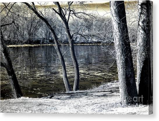 Delaware River Infrared Canvas Print by John Rizzuto