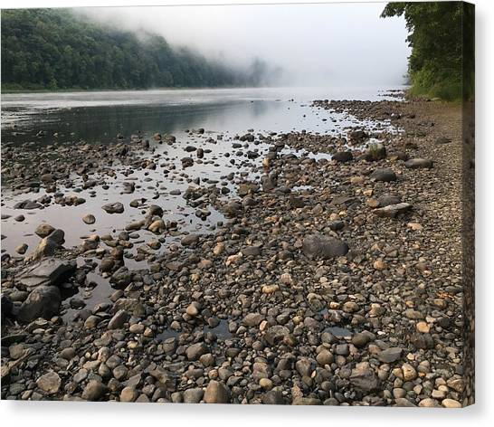 Delaware River Mist Canvas Print