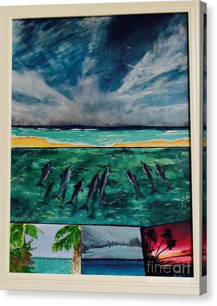 Delfin Canvas Print