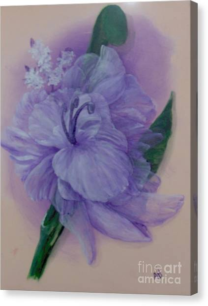 Canvas Print featuring the painting Delicacy by Saundra Johnson