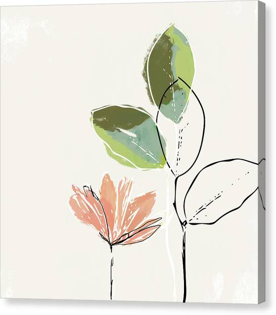 Peaches Canvas Print - Delicate Flower- Art By Linda Woods by Linda Woods