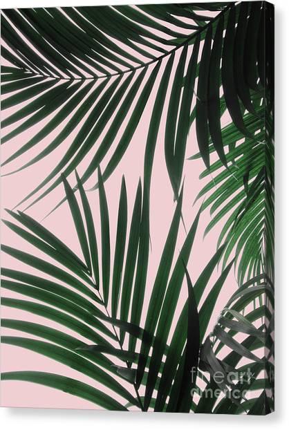Delicate Jungle Theme Canvas Print