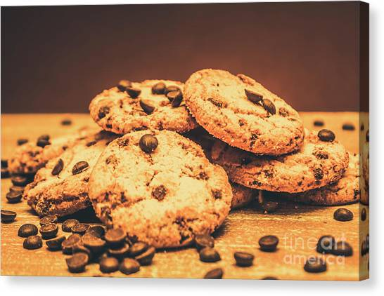 Biscuits Canvas Print - Delicious Sweet Baked Biscuits  by Jorgo Photography - Wall Art Gallery