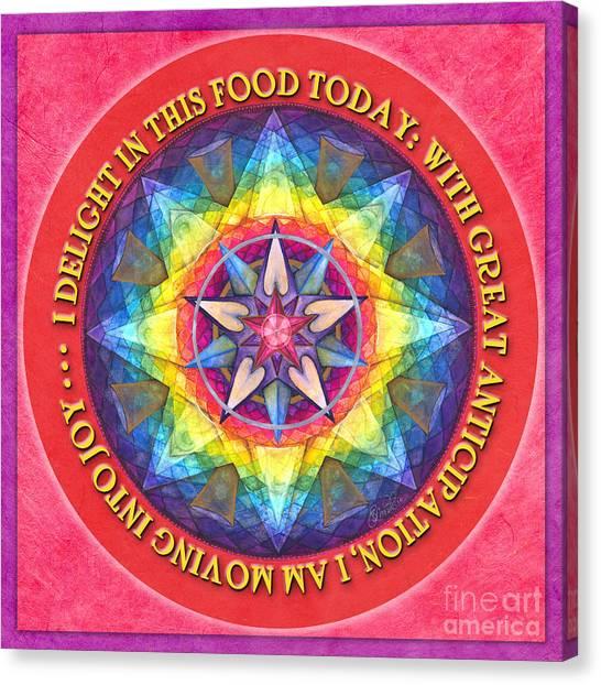 Delight In This Mandala Prayer Canvas Print