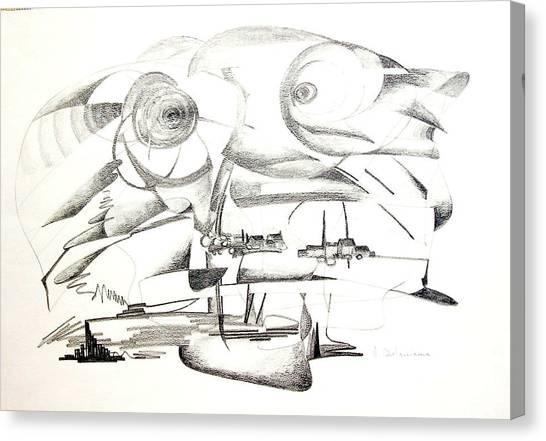 Delire Canvas Print by Muriel Dolemieux