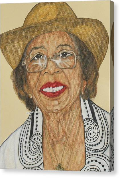 Della Willis Portrait Canvas Print