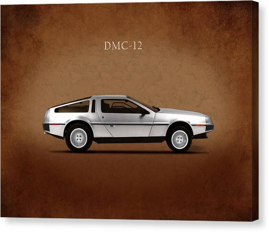 Back To The Future Canvas Print - Delorean Dmc-12 by Mark Rogan