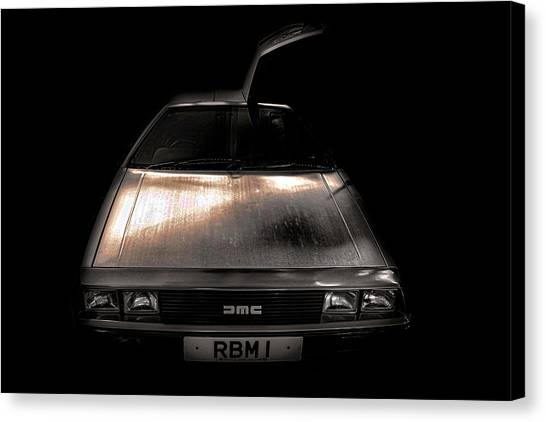 Back To The Future Canvas Print - Delorean by Martin Newman