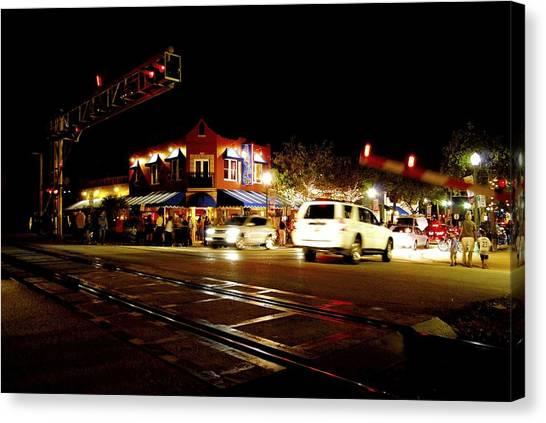 Delray Beach Railroad Crossing Canvas Print