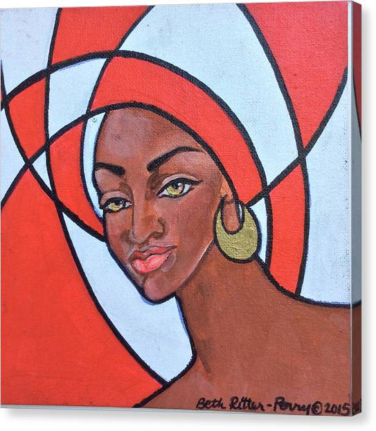 Delta Sigma Theta Canvas Print - Delta Darling by Beth Ritter-Perry