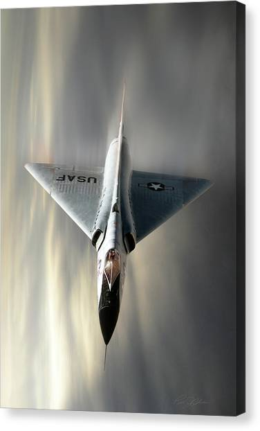 Deltas Canvas Print - Delta Dart F-106 by Peter Chilelli