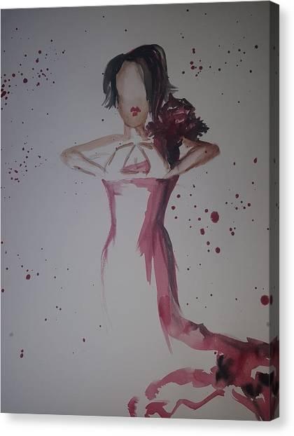 Delta Sigma Theta Canvas Print - Delta Diva by AprilReign Arts