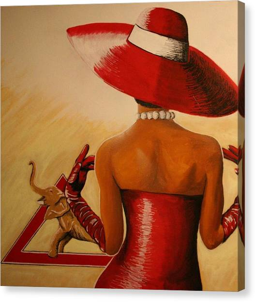 Delta Sigma Theta Canvas Print - Delta Glory by Rufus Royster