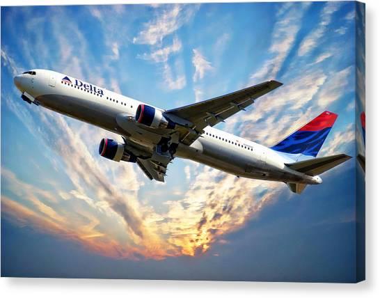 Delta Passenger Plane Canvas Print