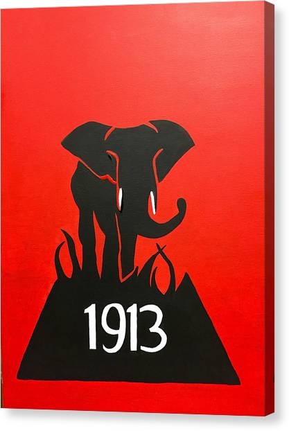 Sorority Canvas Print - Delta Sigma Theta Elephant  by Omari Slaughter