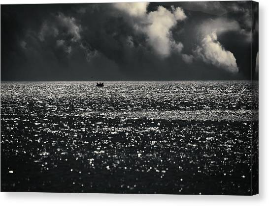 Ocean Of Emptiness Canvas Print - Delusion by Taylan Apukovska