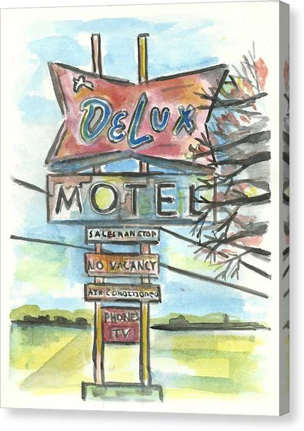 Delux Motel Canvas Print by Matt Gaudian