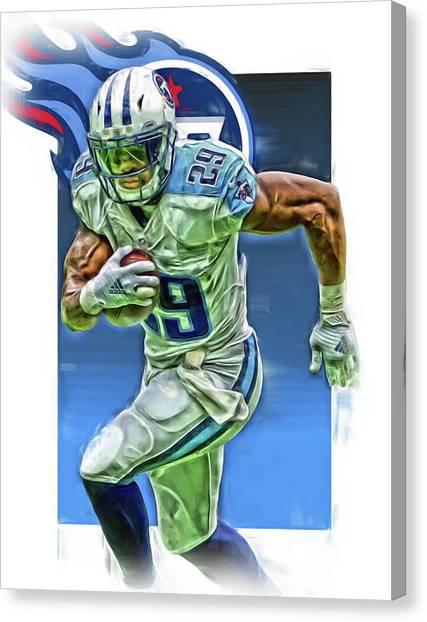 Tennessee Titans Canvas Print - Demarco Murray Tennessee Titans Oil Art by Joe Hamilton
