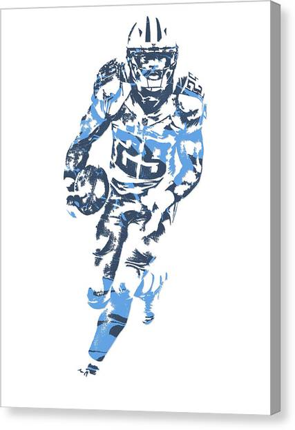 Tennessee Titans Canvas Print - Demarco Murray Tennessee Titans Pixel Art 5 by Joe Hamilton